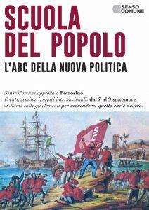 Iscriviti alla Scuola del Popolo! La scuola estiva di Senso Comune a Petrosino (TP) dal 7 al 9 settembre @ Petrosino (TP)