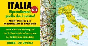 Riprendiamoci quello che è nostro! Manifestazione per nazionalizzare le autostrade @ Roma
